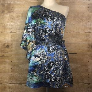 NWT Cache sample One shoulder blouse size small